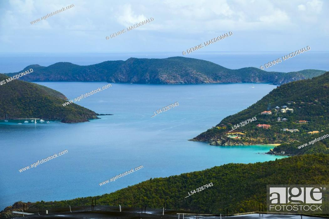 Stock Photo: Smuggler's Cove Tortola is the largest of the British Virgin Islands in the Caribbean. It features several white-sand beaches.
