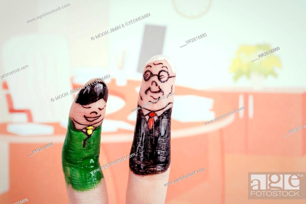 Imagen: Business people, finger art.