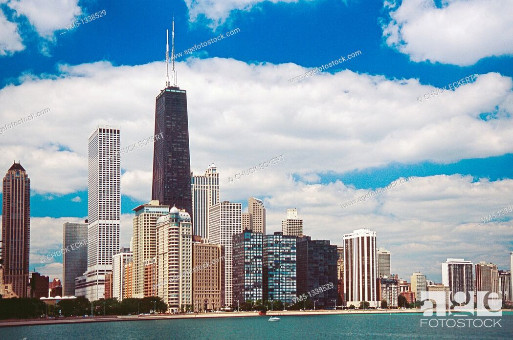 Stock Photo: Chicago's Northshore as viewed from Lake Michigan.