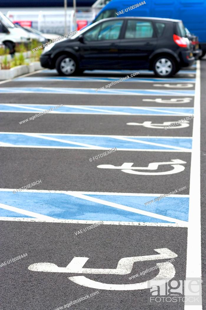 Stock Photo: Handicapped parking.