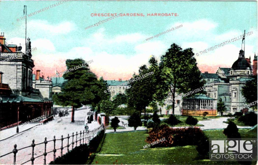 Stock Photo: Crescent Gardens, Harrogate, Yorkshire, England.