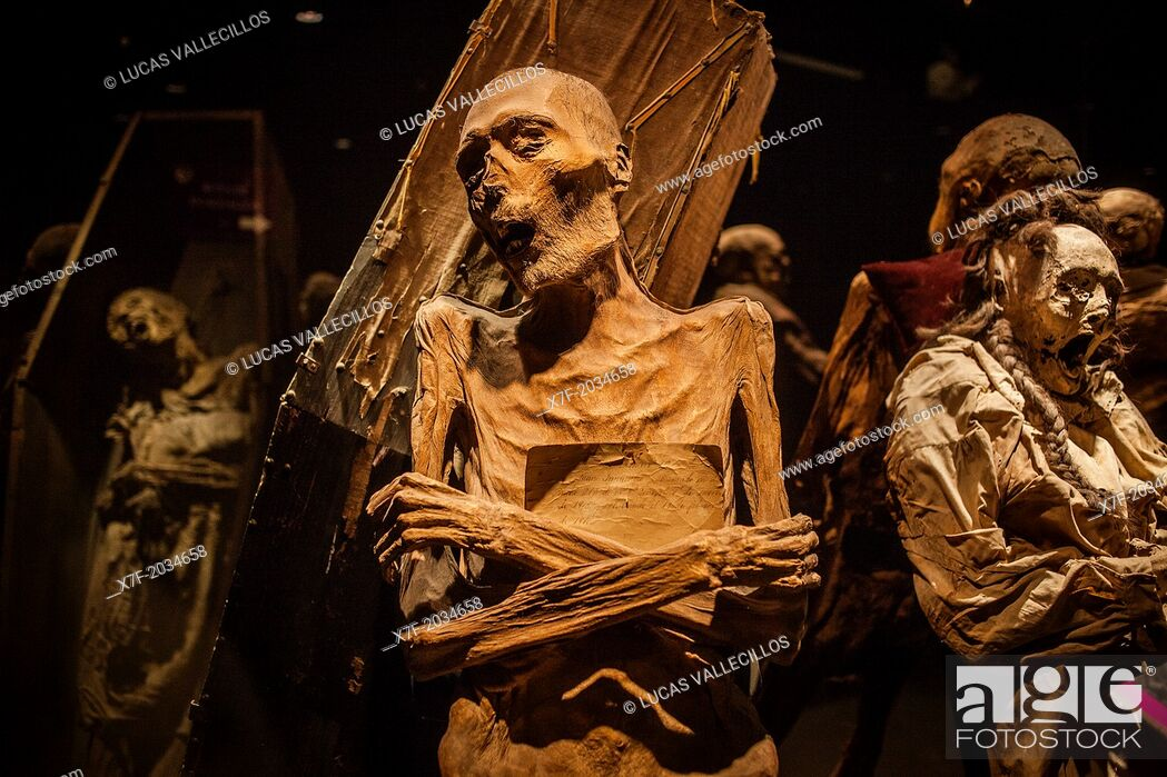 Stock Photo: Museum of the Mummies, Guanajuato, state Guanajuato, Mexico.