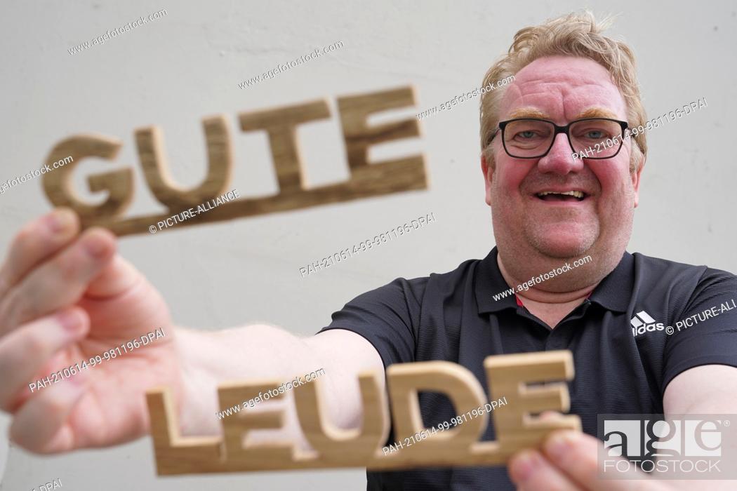 Stock Photo: 11 June 2021, Hamburg: Lars Meier, managing director of Gute Leude Fabrik and board member of the Hamburg charity MenschHamburg.