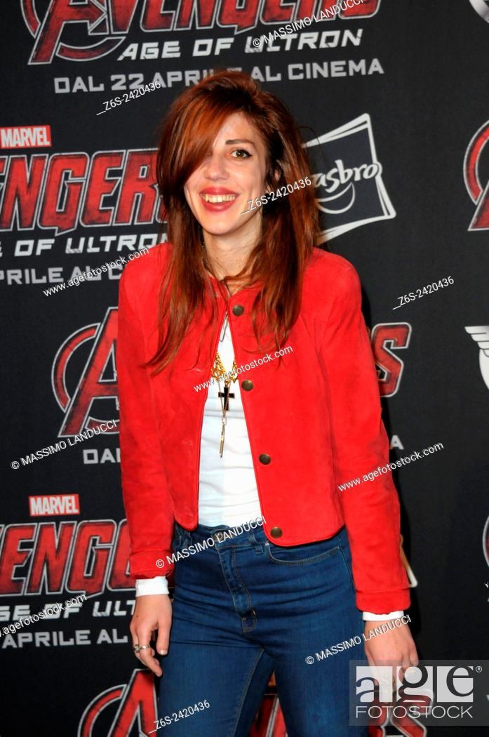 Imagen: thony; modern cinema; songwriter ; celebrities; 2015;rome; italy;event; red carpet ; avengers, age of ultron.