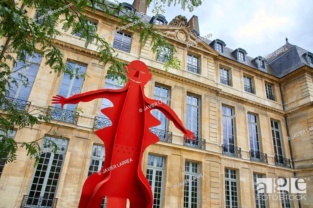 "Stock Photo: ""Untitled"", 1976, Alexander Calder, Picasso Museum, Paris, France, Europe."
