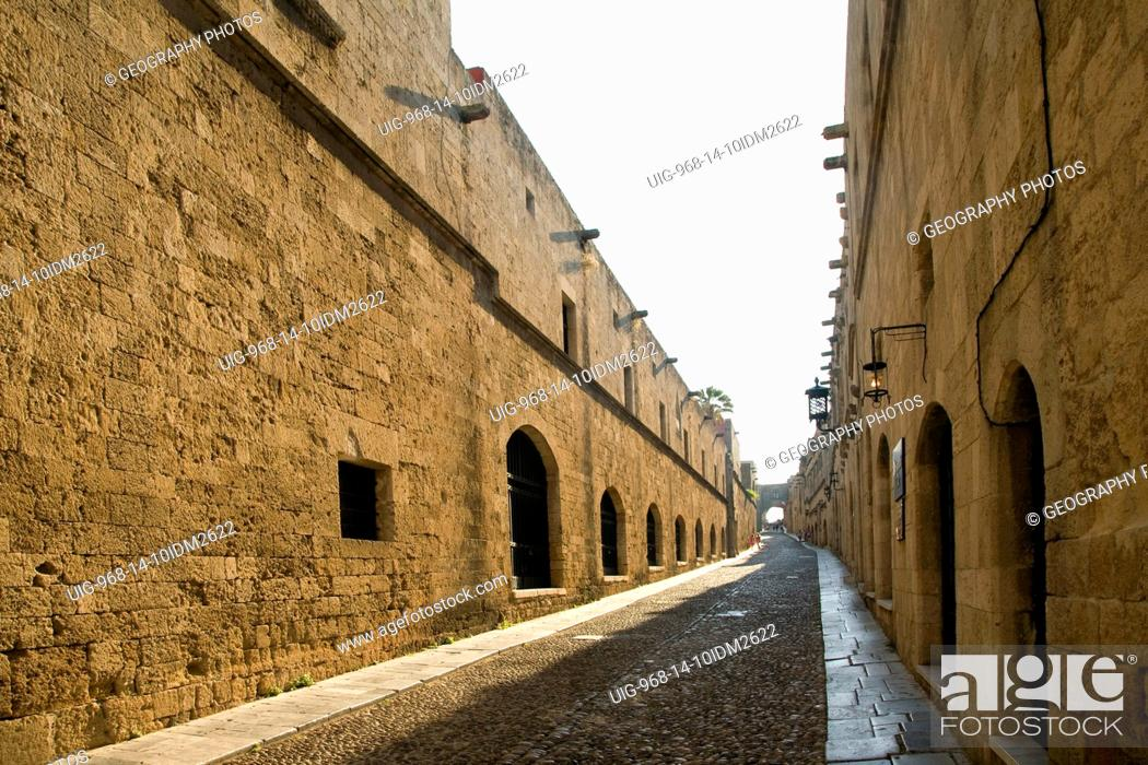 Stock Photo: Ippoton, Street of the Knights, Old town, Rhodes, Greece.