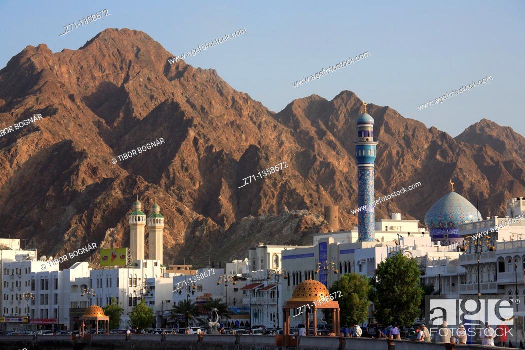 Stock Photo: Oman, Muscat, Mutrah, Corniche, general view.