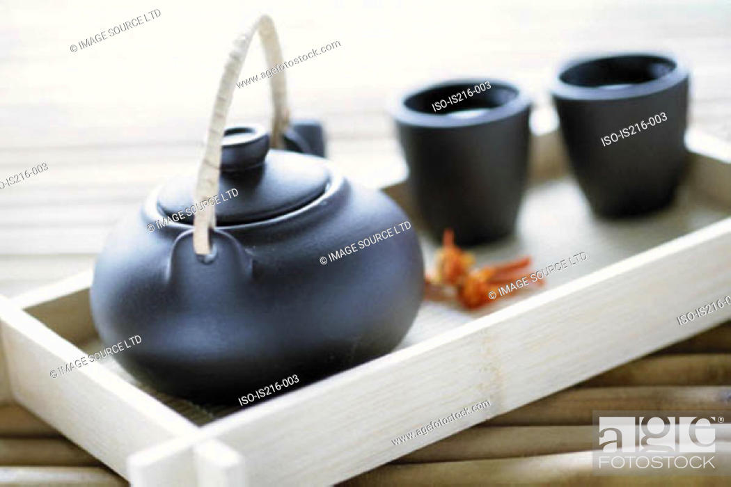 Stock Photo: Teapot and cups.
