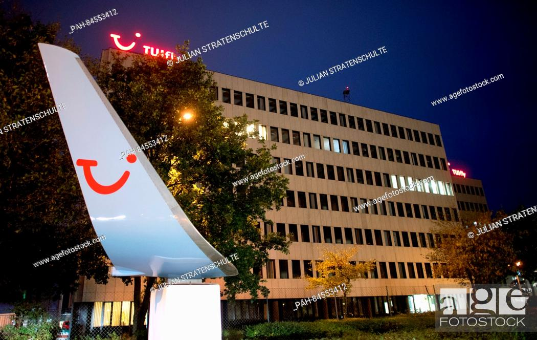 The Tuifly Logo Glows Red At Companys Headquarters