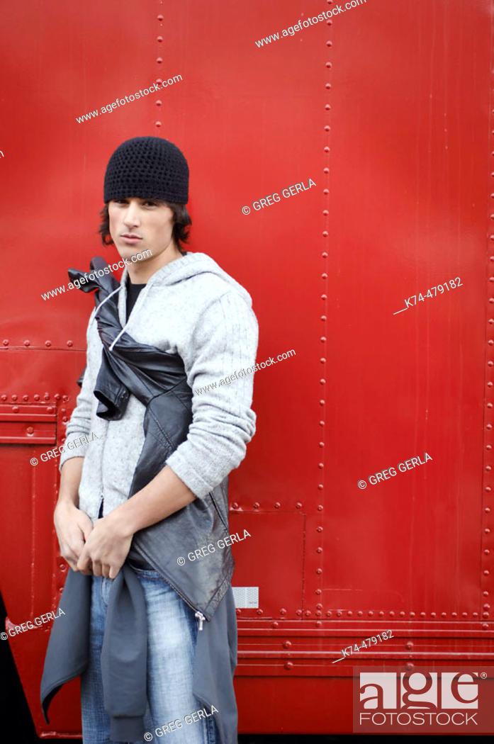 Stock Photo: stylish image of young man.