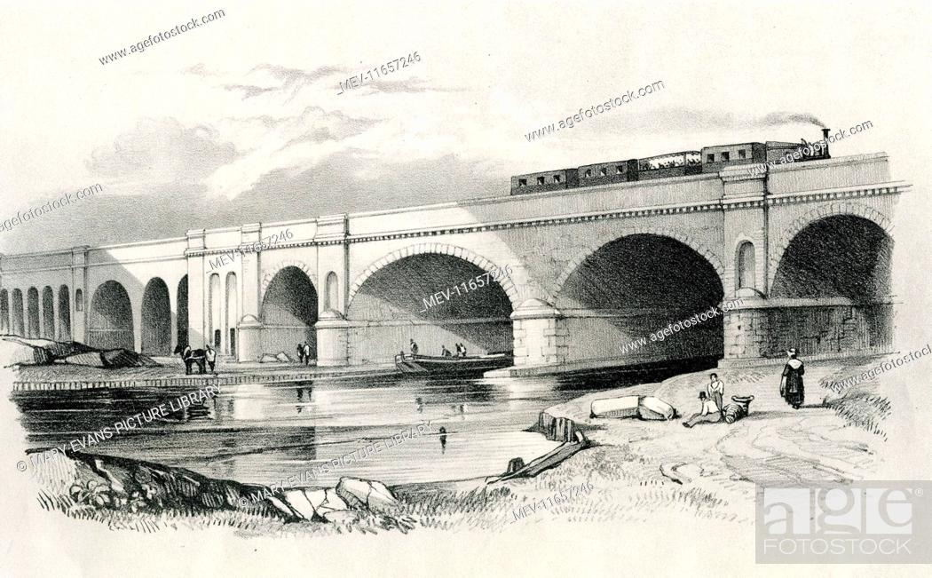 Imagen: London and Greenwich Railway. View of arches over Surrey Canal.