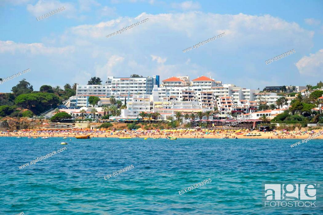Stock Photo: Beach Oura, Albufeira, Algarve, Portugal summer sea.