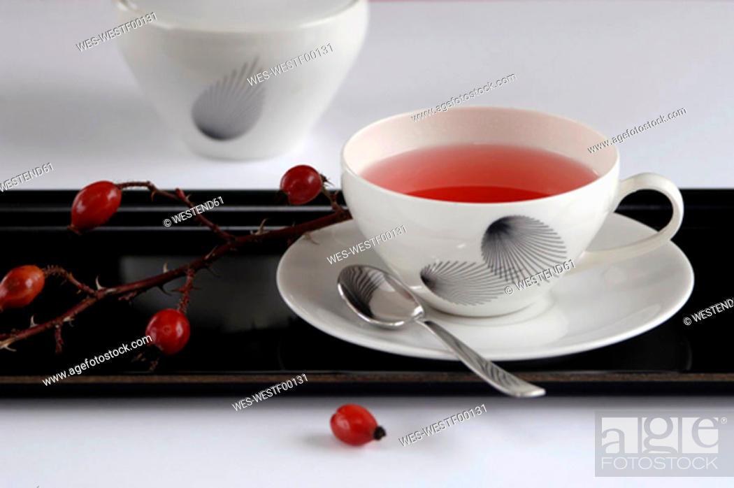 Stock Photo: Rose hip tea.