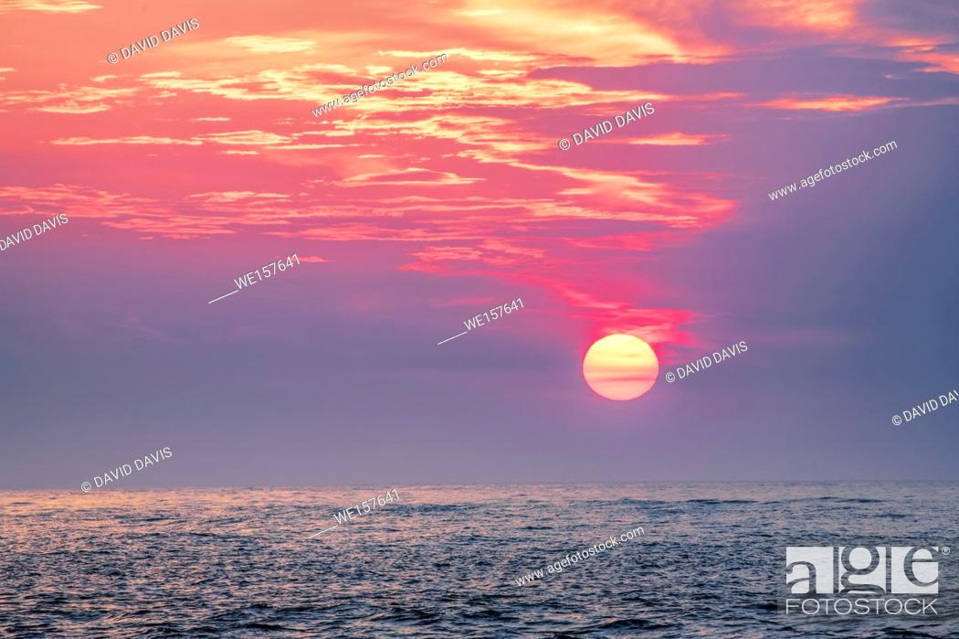 Stock Photo: Beautiful Sunset over the Gulf of Mexico from the beaches of Clearwater, Florida USA.