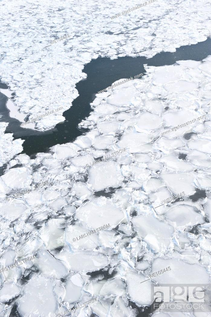 Stock Photo: Ice Sheets, Sweden.