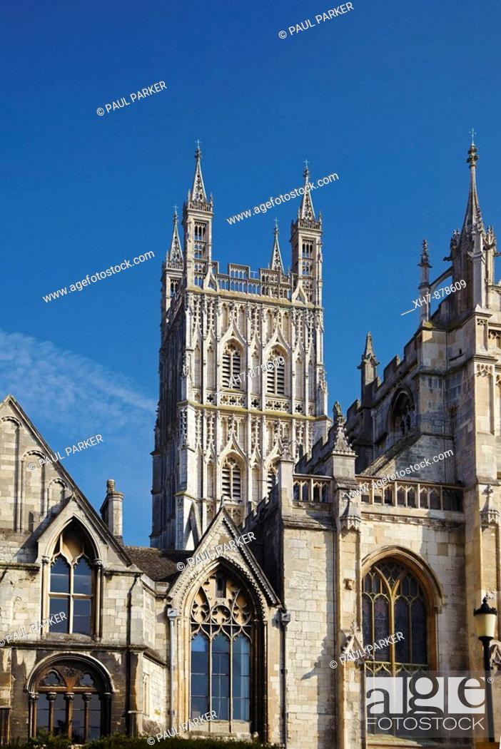 Stock Photo: Gloucester Cathedral, Gloucester, England, UK.