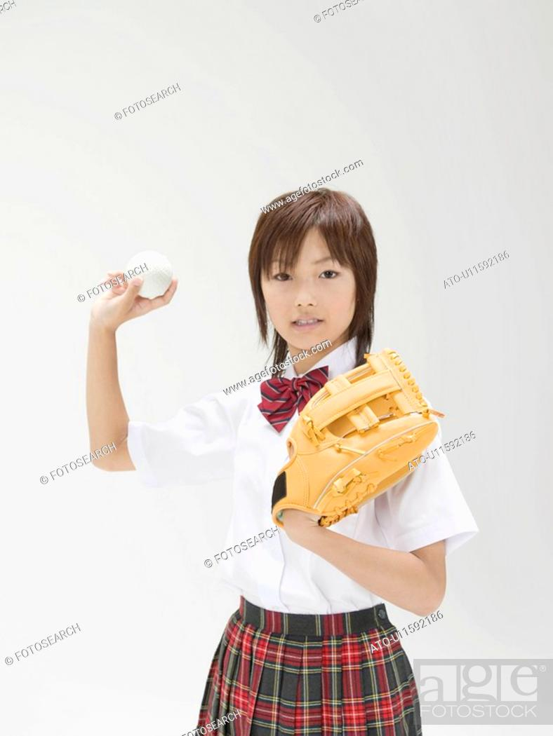Stock Photo: The Japanese Female High School Student.