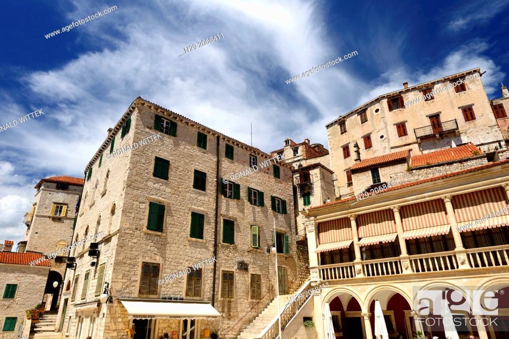 Photo de stock: Old Town, Sibenik, Croatia, Europe.