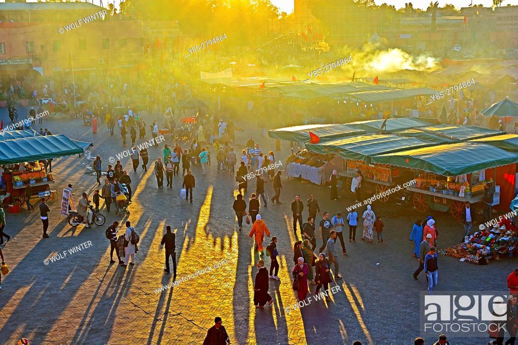 Stock Photo: Place Djema el Fna, Marakesh, Morocco.