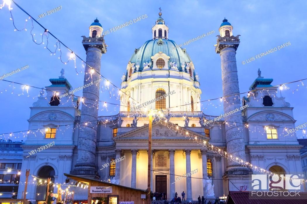 Stock Photo: Karlskirche (St. Charles's Church)Vienna, Austria.
