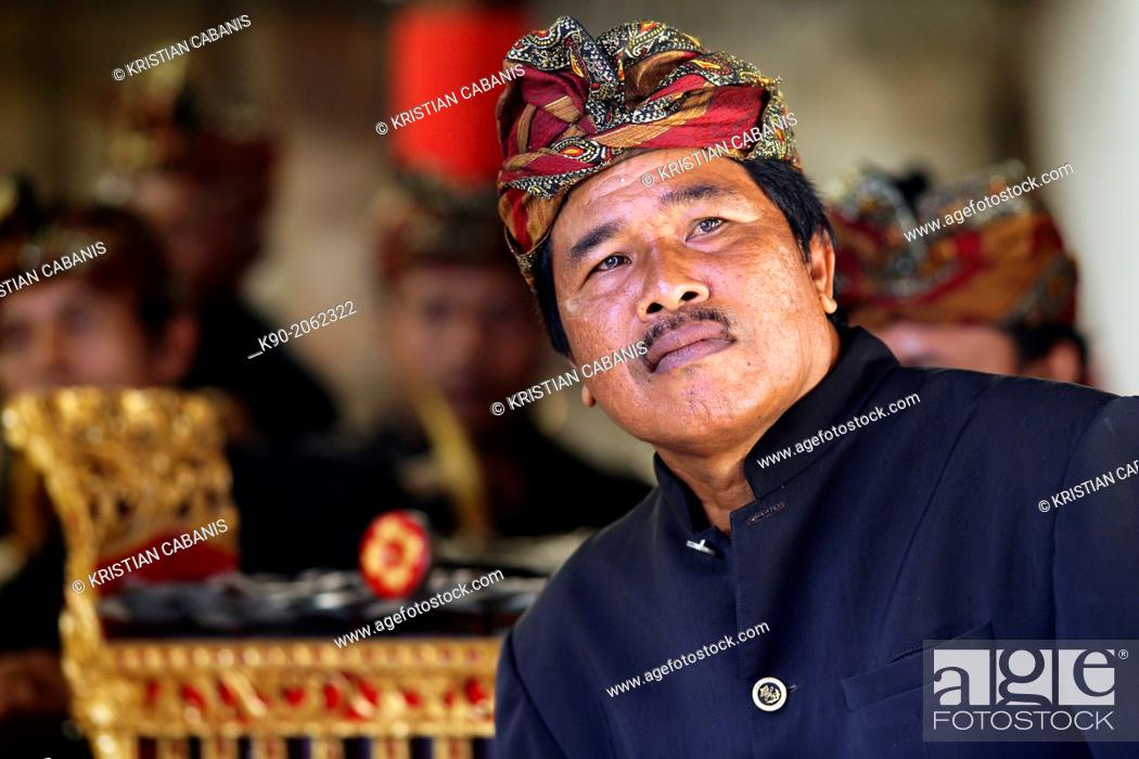 Stock Photo: Gamelan - traditional balinese orchestra and musicians, Bali, Indonesia, Southeast Asia.