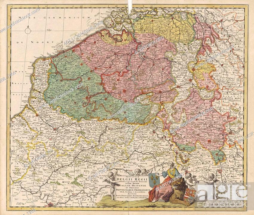 Imagen: Map of the Southern Netherlands, Justus Danckerts, Staten van Holland en West-Friesland, 1696 - 1701.