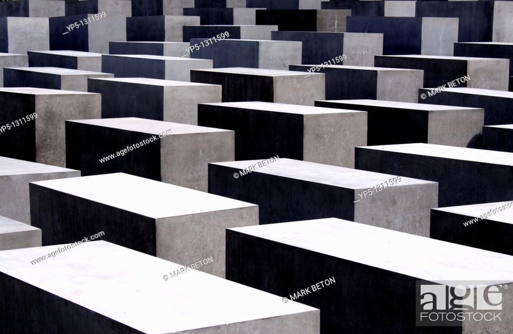 Stock Photo: Holocaust memorial Berlin.