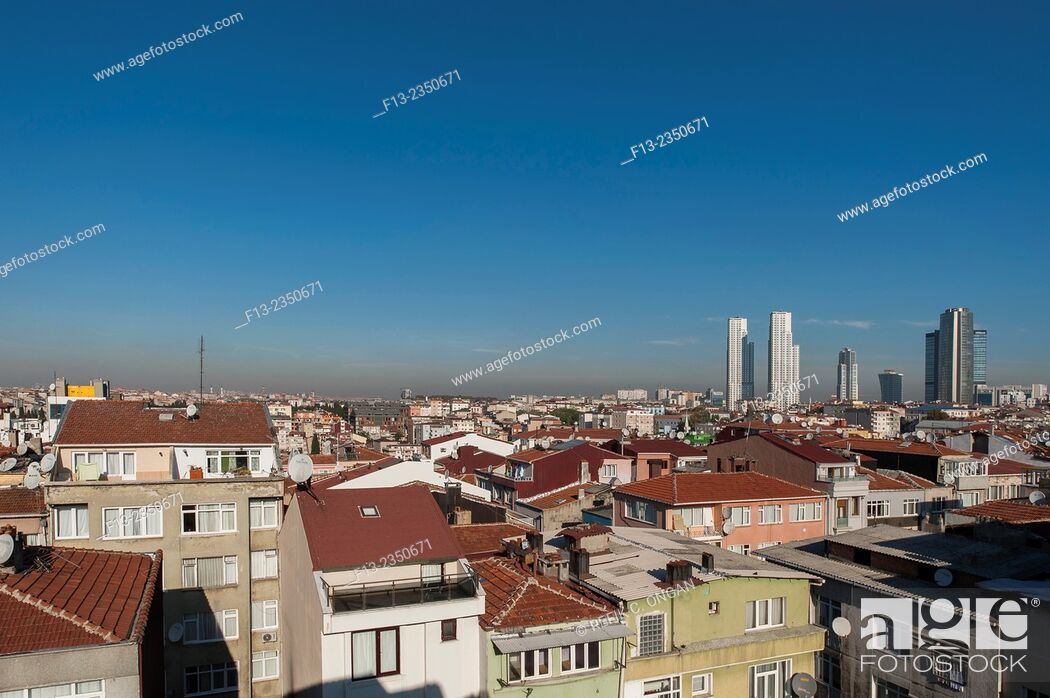 Stock Photo: Istanbul cityscape new developing part.