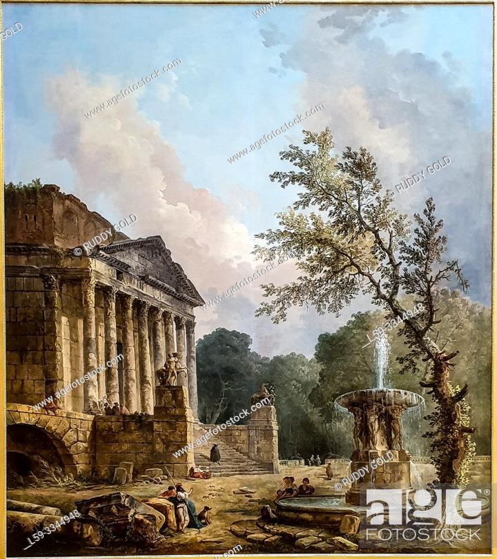 Imagen: 'Landscape with Ruins of a Roman Temple', 1773, by Hubert Robert (1733-1808).
