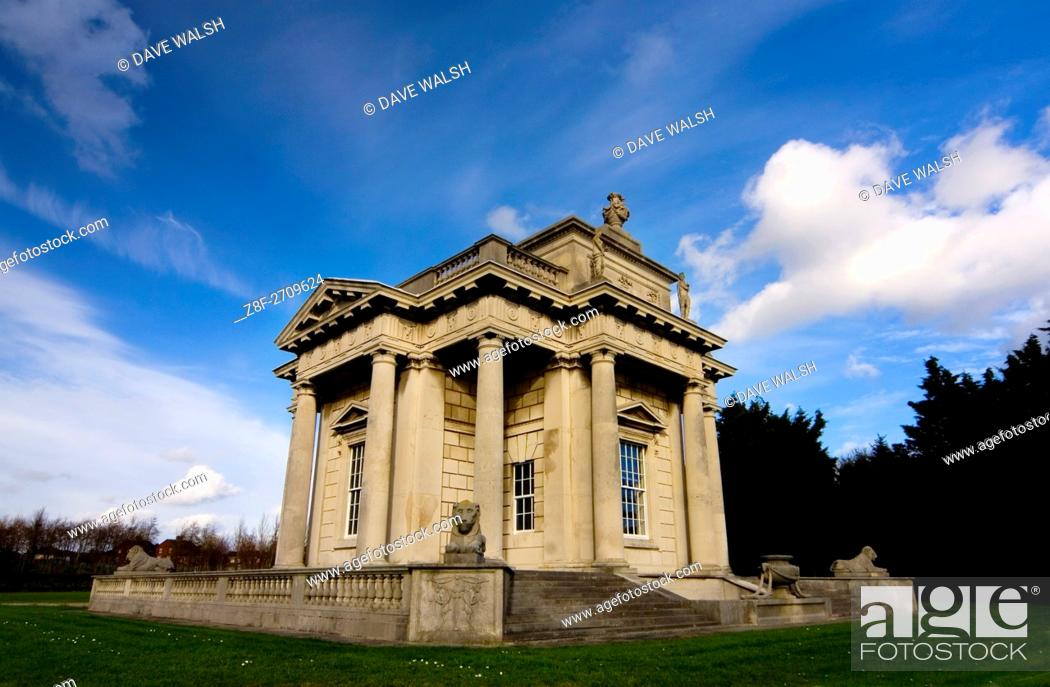Stock Photo: The Casino at Marino was designed by Scottish architect Sir William Chambers for James Caulfield, the 1st Earl of Charlemont.