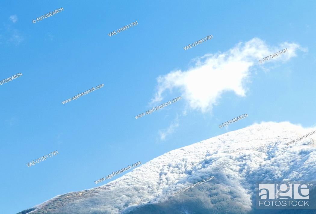 Stock Photo: The Mountain And Blue Sky.