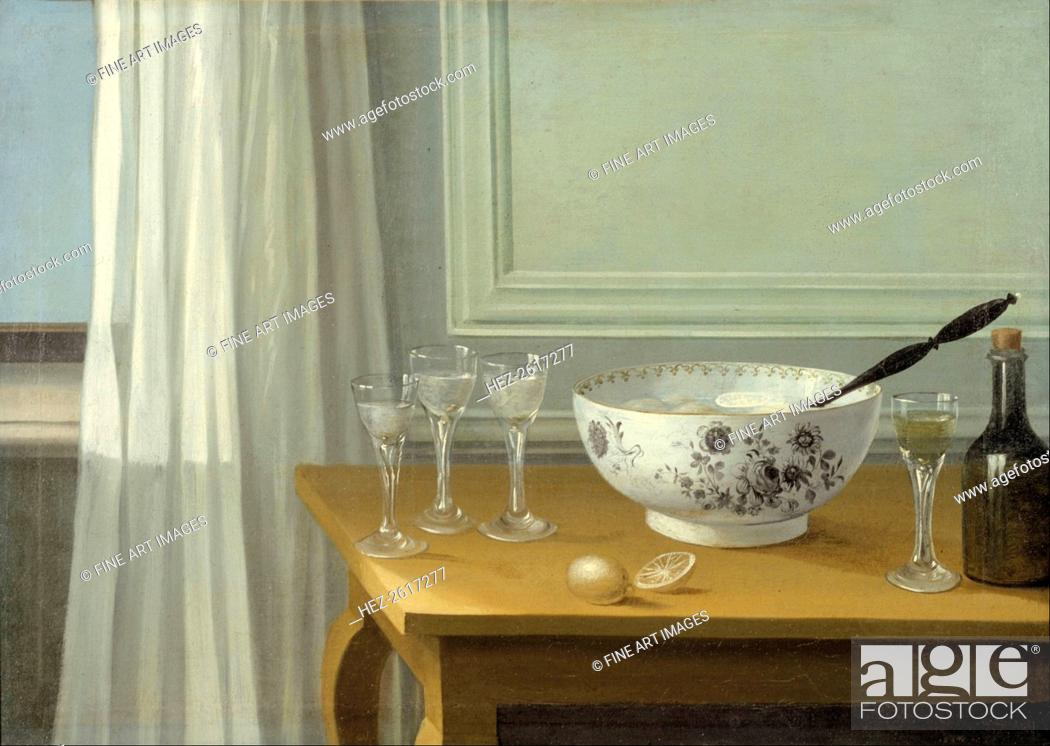 Stock Photo: Still Life with a Punch Bowl. Artist: Schillmark, Nils (1745-1804).
