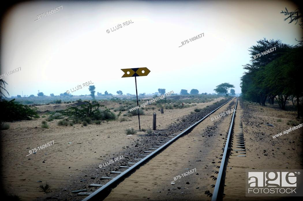 Stock Photo: railroads, India.
