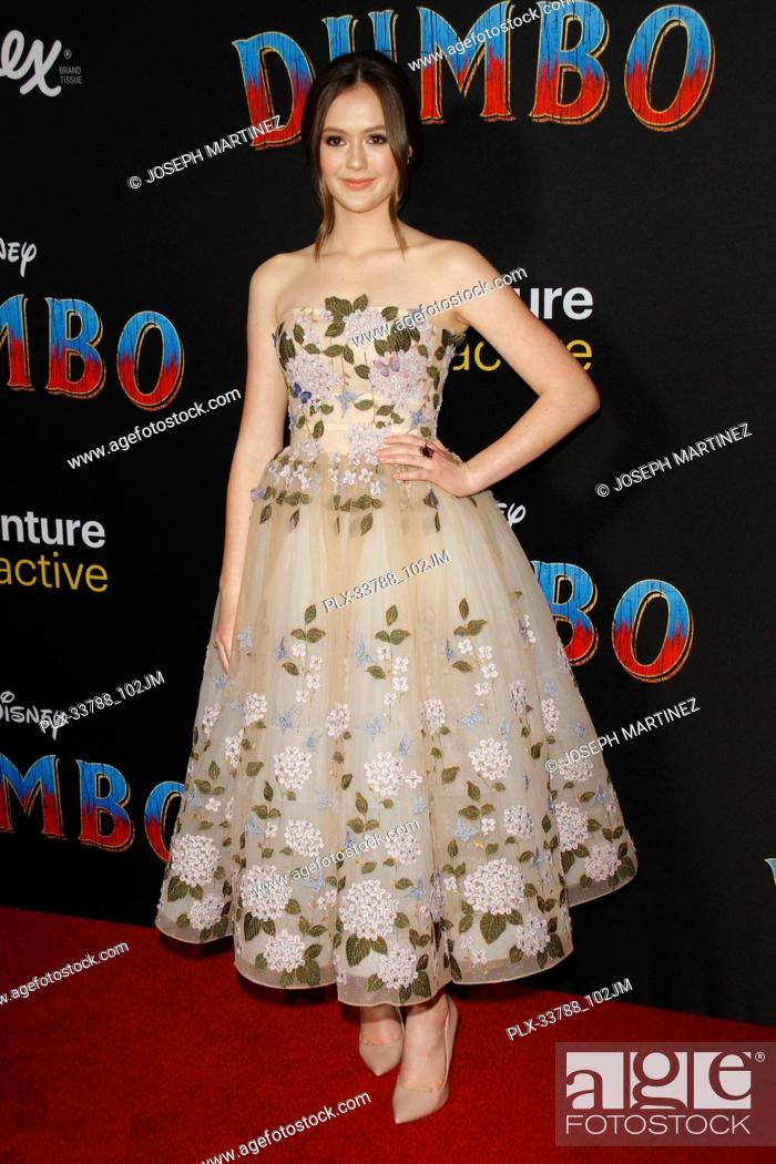 """Imagen: Olivia Sanabia at Disney's """"""""Dumbo"""""""" Premiere held at the Ray Dolby Ballroom, Loews Hollywood Hotel, Hollywood, CA , on March 11, 2019."""