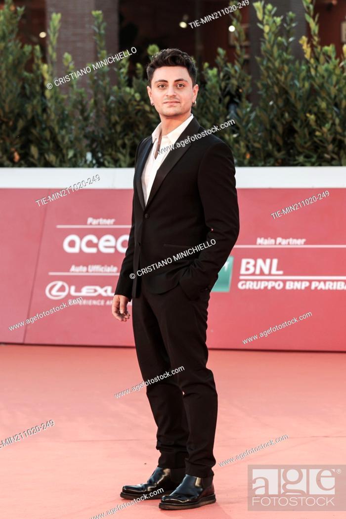 Stock Photo: Virginio Simonelli on Red carpet of film 'Maledetta primavera' at the 15th Rome Film Festival, Rome, ITALY-21-10-2020.