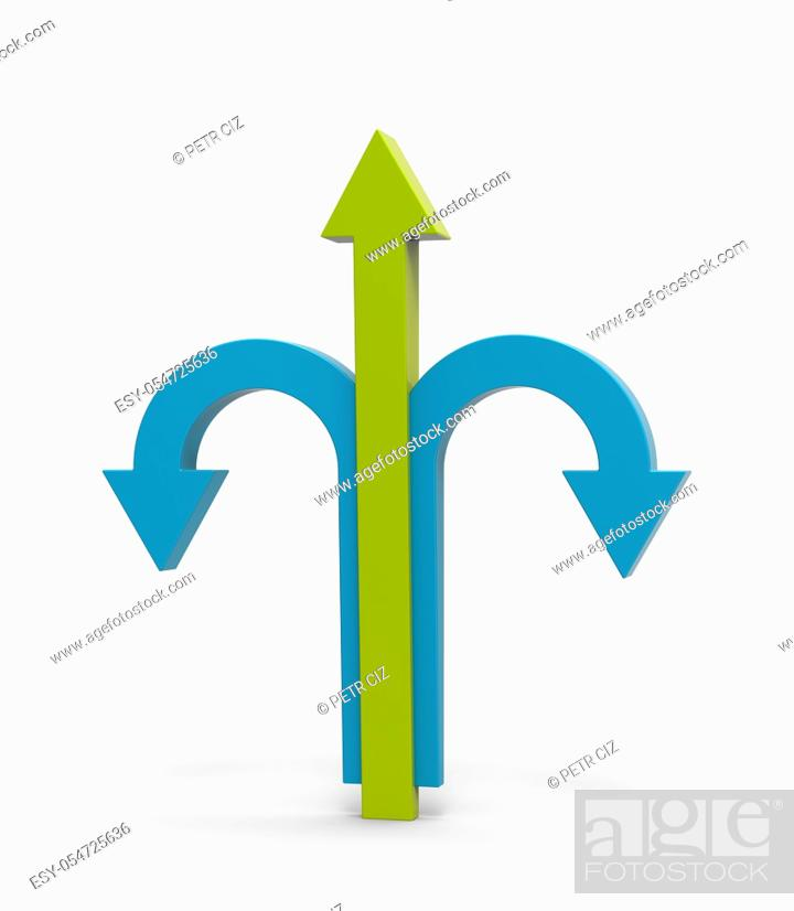 Stock Photo: Leader business concept. Arrows process idea.