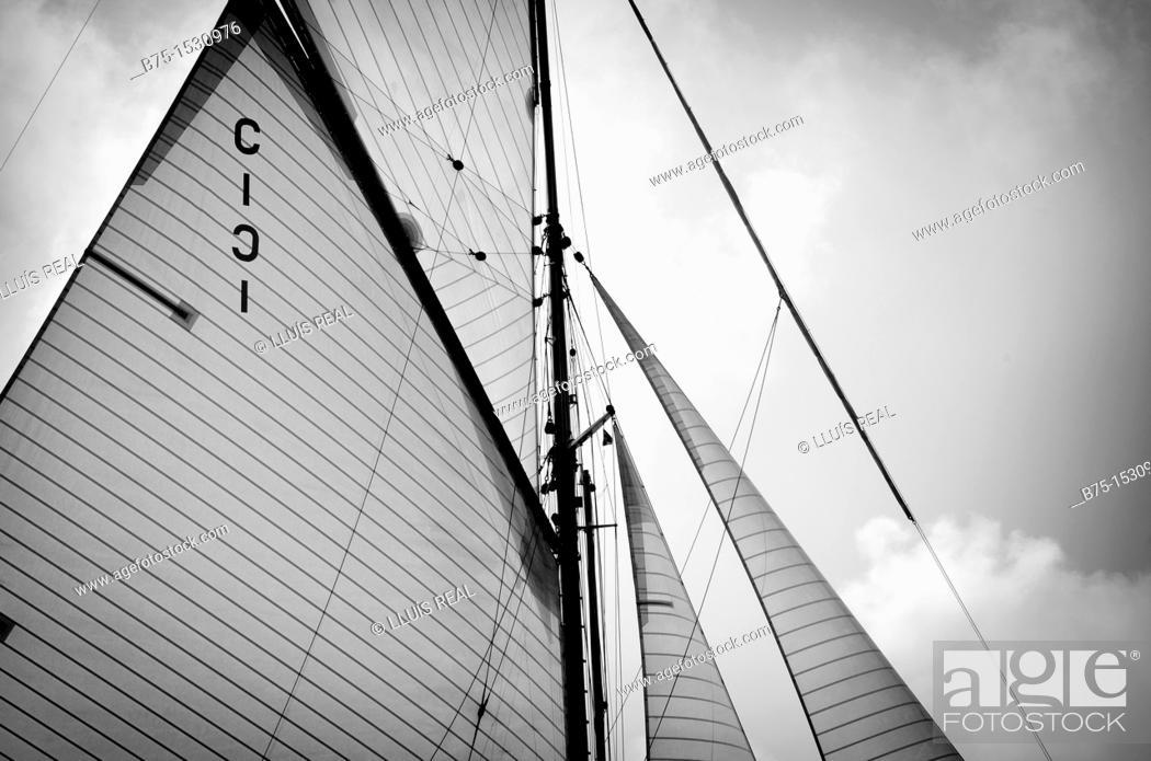 Stock Photo: Sailing ship.