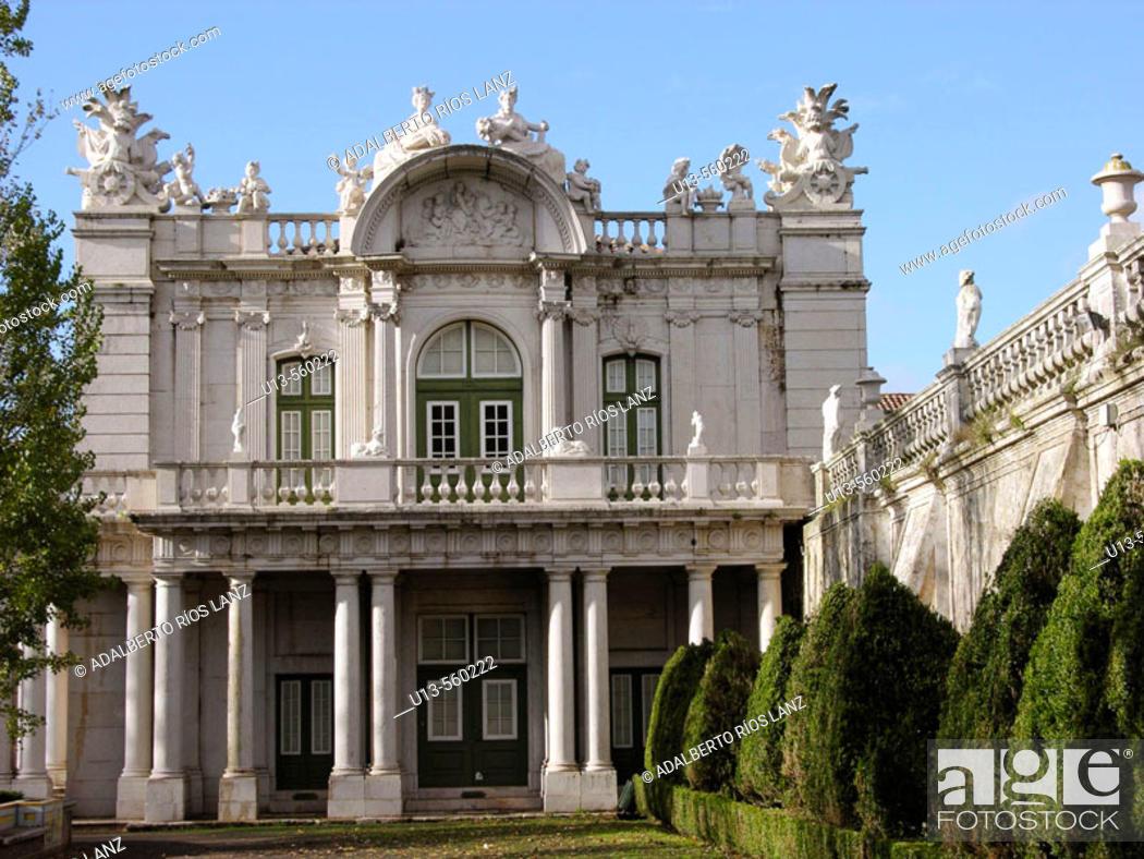 Stock Photo: Robillon Pavillion Queluz National Palace Sintra Lisbon Portugal.