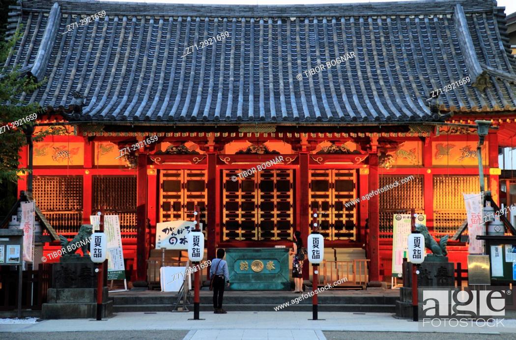 Stock Photo: Japan, Tokyo, Asakusa Shinto Shrine,.