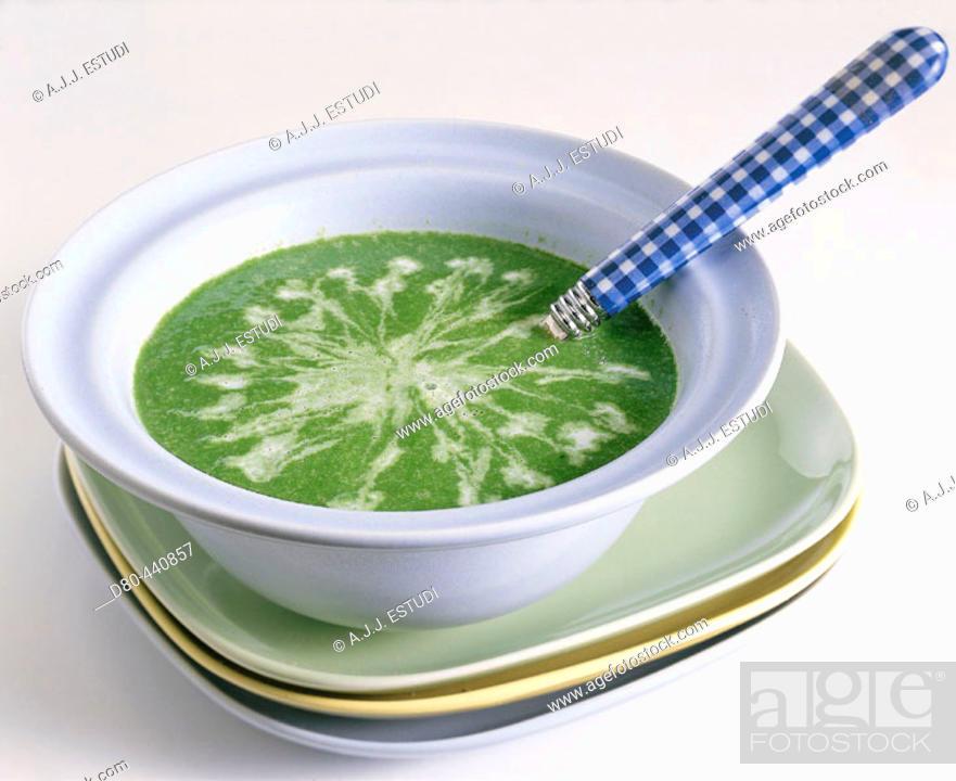 Stock Photo: Cream of vegetables.