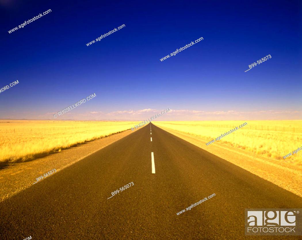 Stock Photo: Route B1, Namibia.