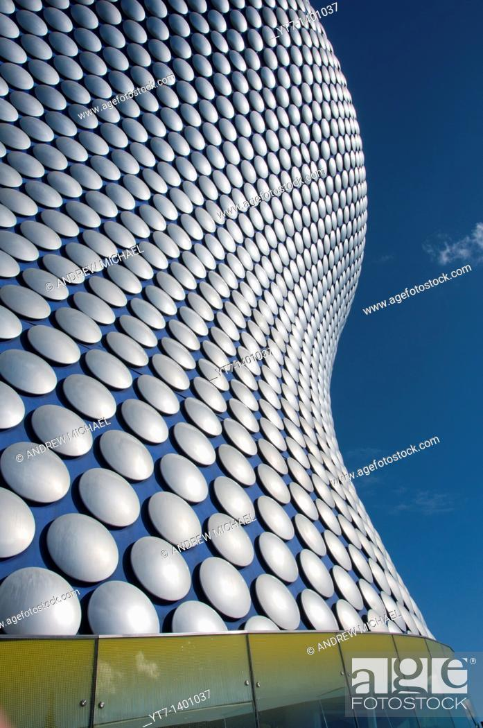 Stock Photo: The modern architect designed Selfridges building in Birmingham, UK.