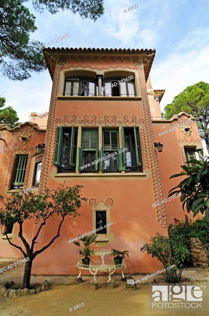 Casa Museo Gaudi.Museum Gaudi Casa Museo Antoni Gaudi Park Gueell Barcelona Spain