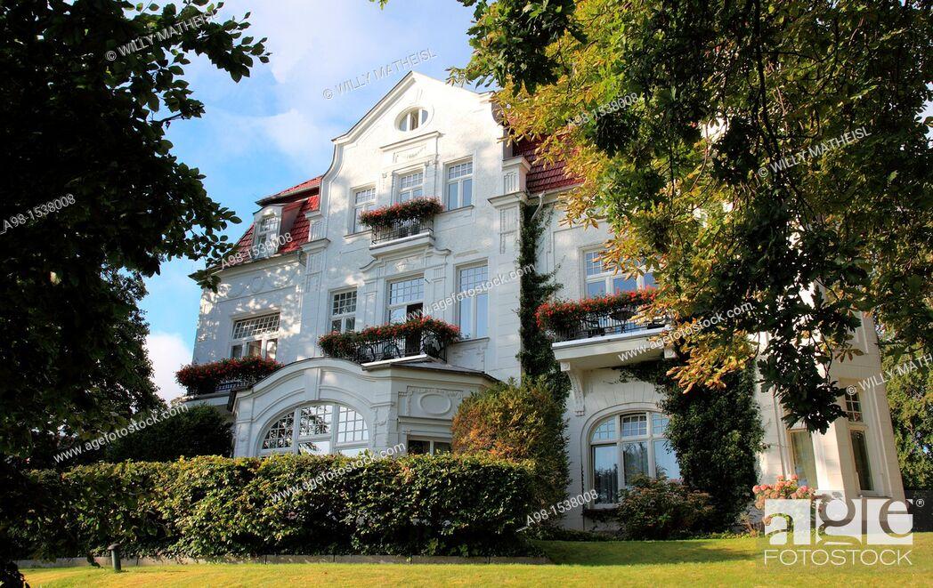 Stock Photo: historic Villa Staudt at Seaside Resort Heringsdorf, Isle of Usedom, Western Pomerania, Germany, Europe.