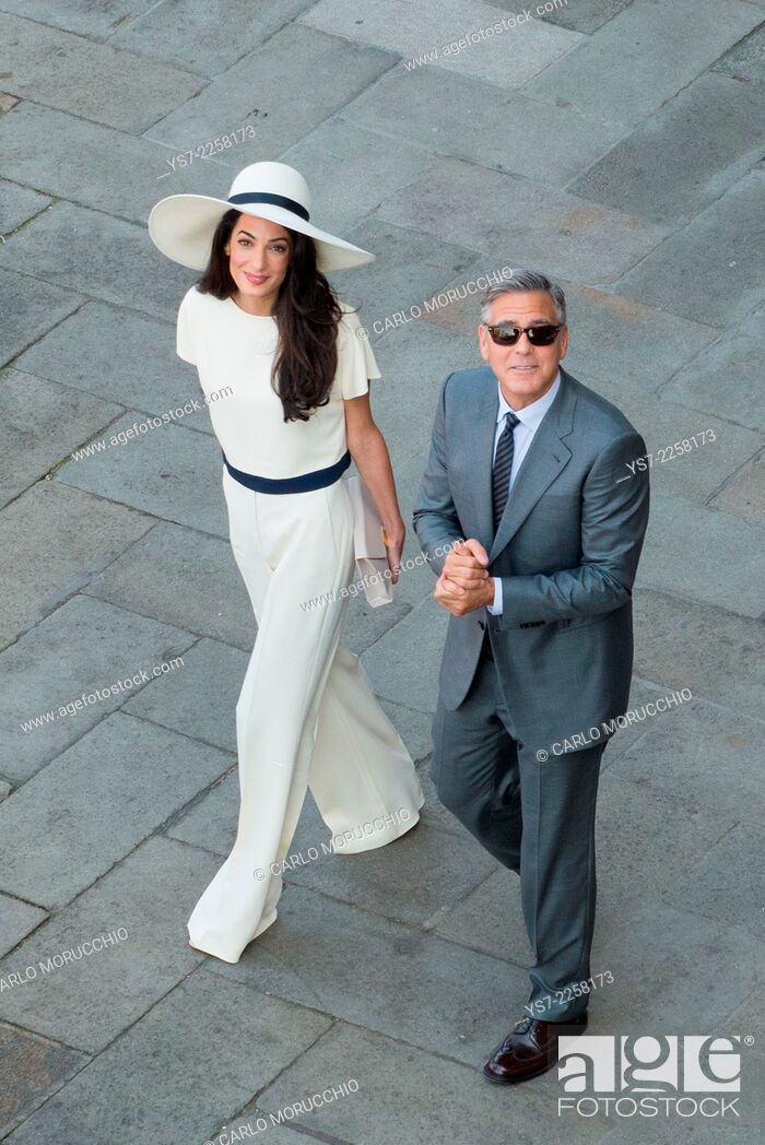 Imagen: George Clooney and Amal Alamuddin wedding at Venice town hall, Venice, Italy, Europe.