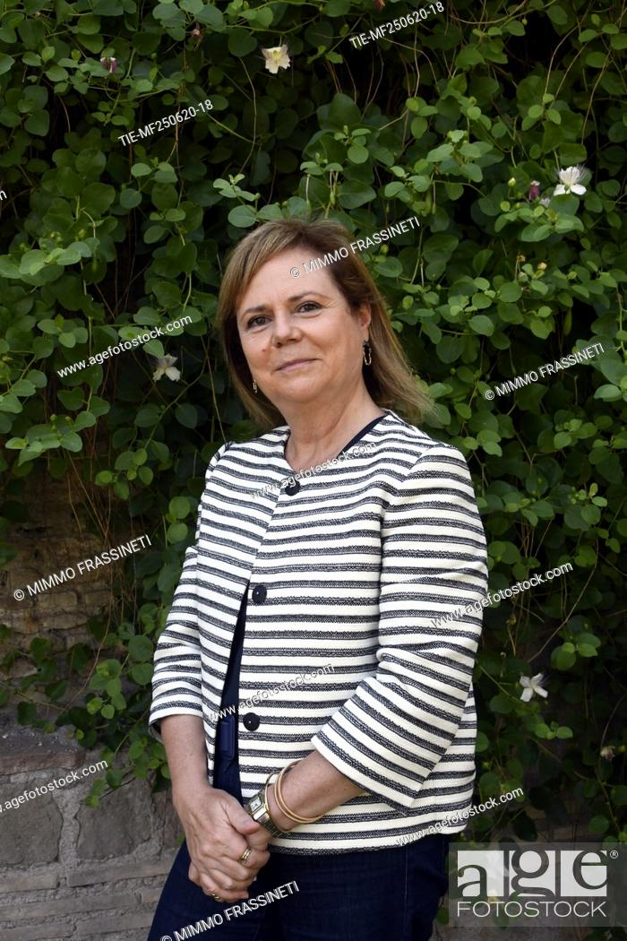 Stock Photo: Alfonsina Russo, director of Colosseum archaeological park during the presentation of the bronze sculpture 'Anello' by Francesco Arena.