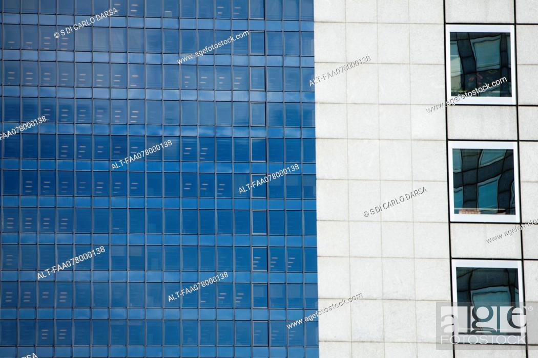 Stock Photo: Building facade, cropped.