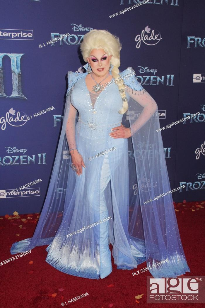 """Stock Photo: Nina West 11/07/2019 The World Premiere of """"""""Frozen 2"""""""" held at the Dolby Theatre in Los Angeles, CA. Photo by I. Hasegawa / HNW / PictureLux."""