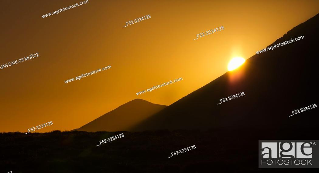 Stock Photo: Volcanic Landscape, Soo, Lanzarote Island, Canary Islands, Spain, Europe.