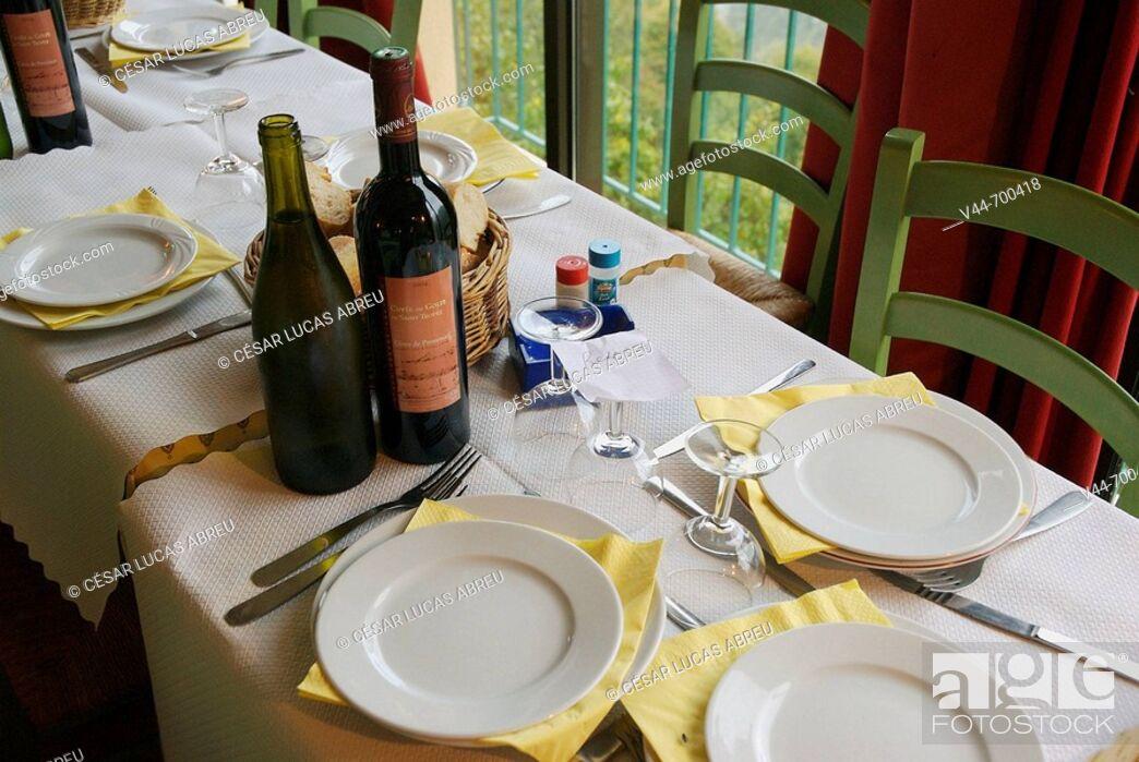 Stock Photo: Restaurant Le Saint Yves, Saint Agnes. Cote d'Azur, France.
